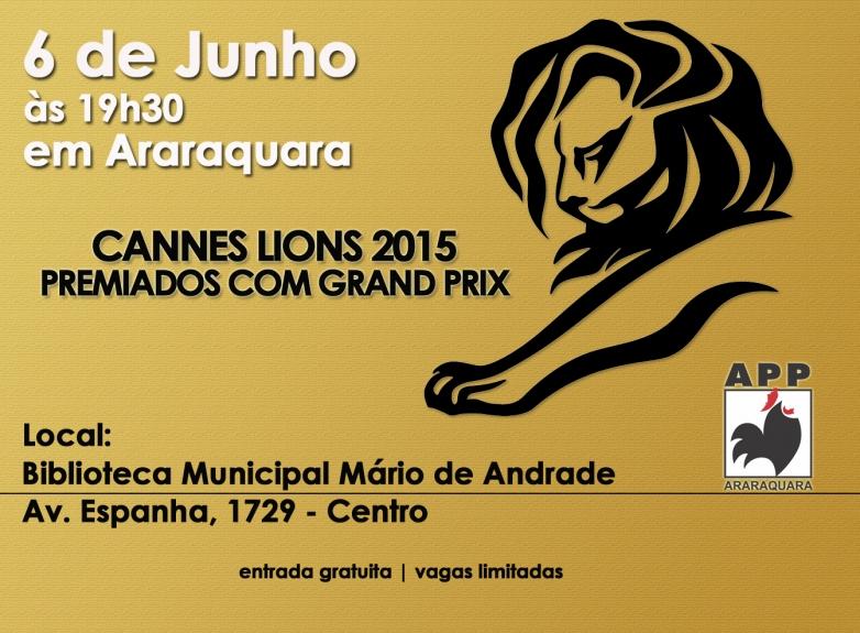 APP Araraquara exibe premiados em Cannes na Biblioteca Municipal Mario de Andrade