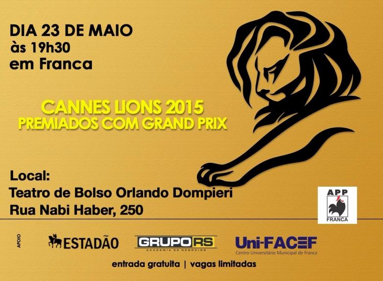 APP Franca exibe premiados em Cannes na abertura da jornada de Publicidade e Propaganda  da UniFACEF