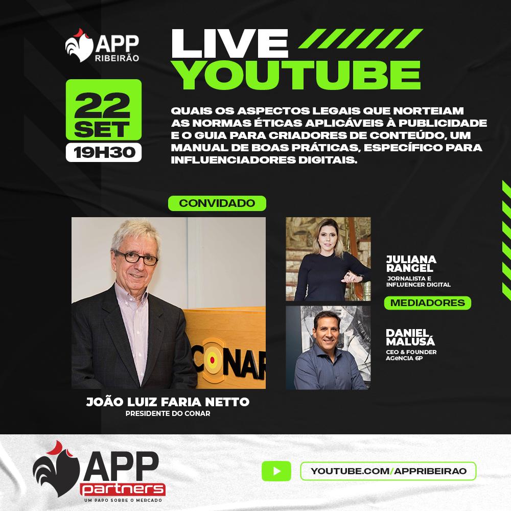 APP Ribeirão promove live sobre normas éticas para publicidade com o presidente do Conar