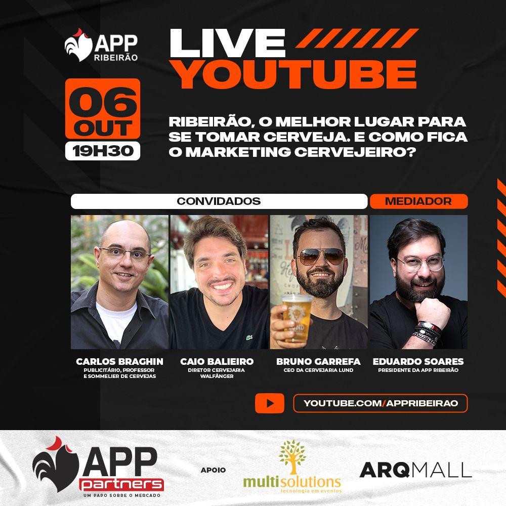 APP Ribeirão promove live para abordar marketing cervejeiro