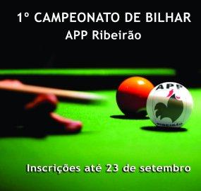1º Campeonato de Bilhar APP Ribeirão.