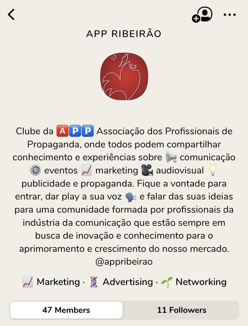 APP Ribeirão estreia no Clubhouse