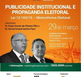 Sinapro e APP Ribeirão promovem palestra sobre Publicidade Institucional e Propaganda Eleitoral
