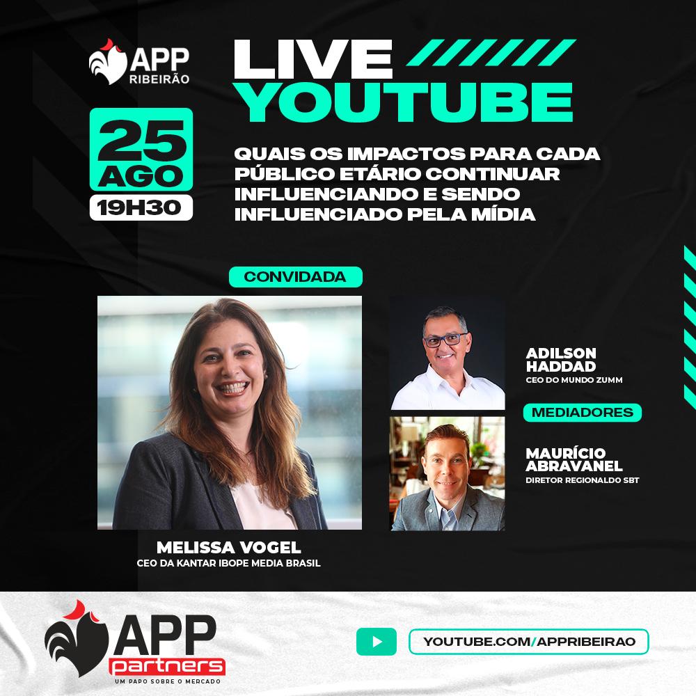 APP Ribeirão promove live sobre mídia e sua influência nas faixas etárias