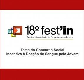 Tema do Concurso: Incentivo à Doação de Sangue pelo Jovem